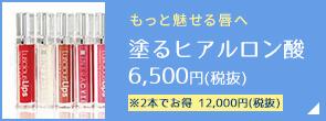 もっと魅せる唇へ 塗るヒアルロン酸6,500円(税抜) ※2本でお得 12,000円(税抜)
